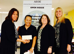 On 2-11-15 AEOE-LAUSD donated $1,000 to the LAUSD homeless education unit